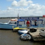 Arriving at the Turf on the Topsham Turf Ferry