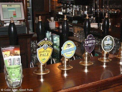 On the bar at the Barnsbury, Islington