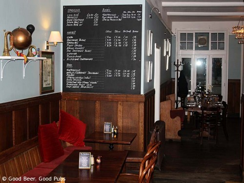 Inside the Barnsbury pub in Islington