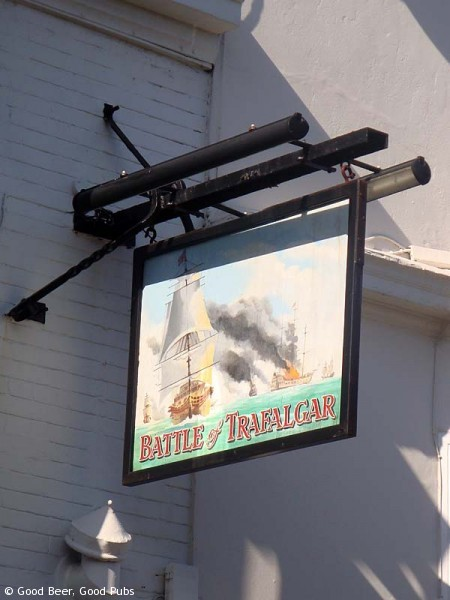 Pub sign at the Battle of Trafalgar, Brighton