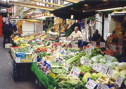 Fruit and vegatable stall in Berwick Street Market