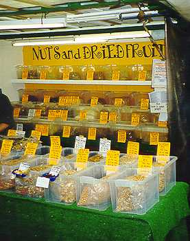 Dried fruit and nut stall in Berwick Street market