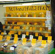 Nuts and dried fruit in Berwick Street Market