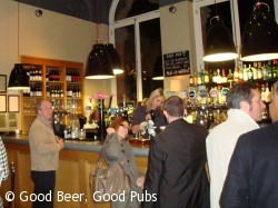 The bar at The Betjeman Arms, St Pancras Station