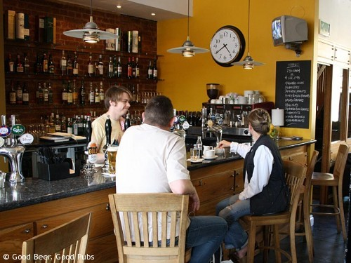 The bar at the Bridge House pub, Tower Bridge