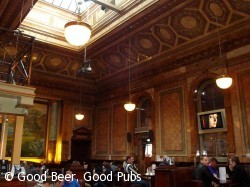 Centurion Bar, Newcastle - showing the tiled walls and ceiling