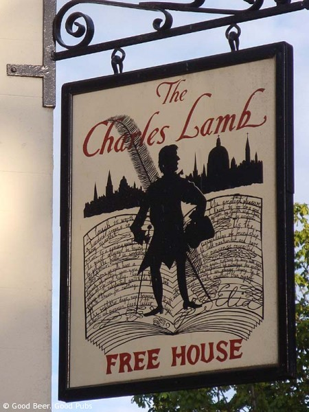 The Charles Lamb at Angel - Pub Sign