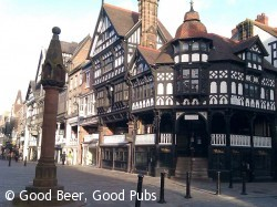 The old centre of Chester