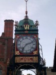The famous victorian clock in Chester
