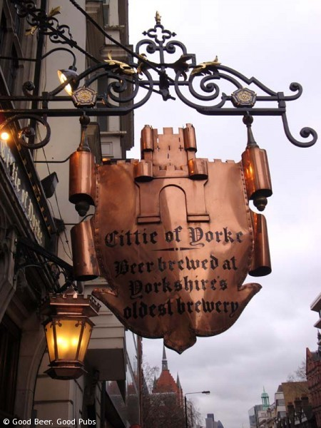 The Cittie of Yorke, Holborn - pub sign