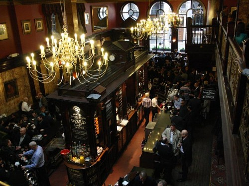 The Counting House, Cornhill - Looking down on the bar from the balcony