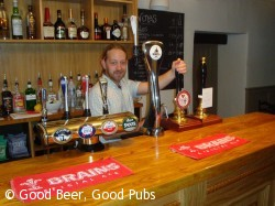 The bar at Dolaucothi Arms, Pumsaint