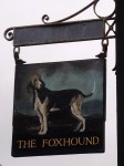 Photo of the Fox Hound, Brixton, Devon - the pub sign