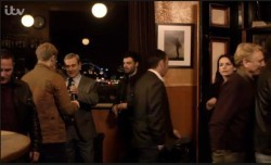 Still from ITV show Vera shot inside Free Trade Inn. Copyright ITV