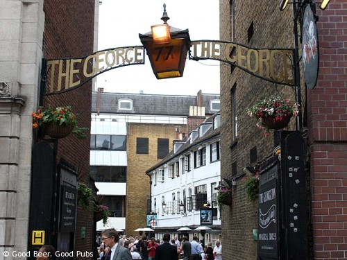 Photo of the George Inn, Southwark - the entrance in Borough High Street