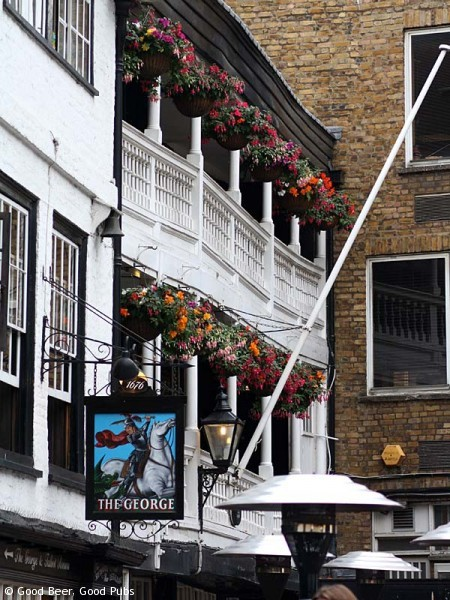 Picture of the George Inn, Southwark - the old balconies