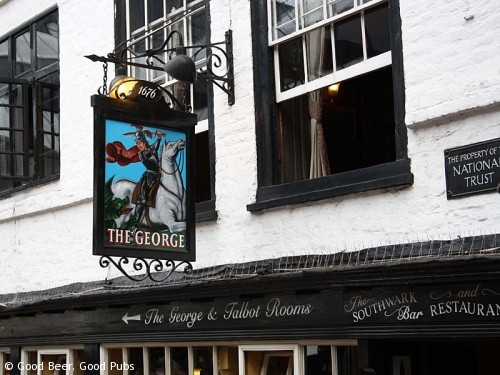 Picture of the George Inn, Southwark - the pub sign
