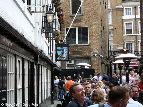 Picture of the George Inn, Southwark looking towards Borough High Street