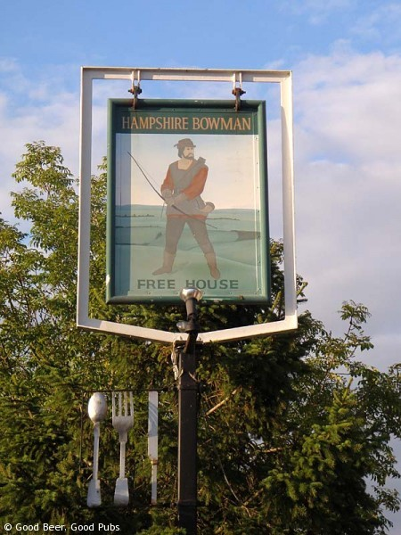 Hampshire Bowman, Dundridge - pub sign