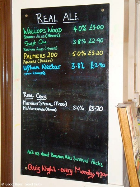 Hampshire Bowman, Dundridge - beer and cider choices on 30th August 2010