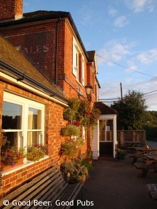 Evening sunshine at The Hampshire Bowman, Dundridge