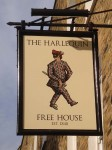 Pub sign at The Harelequin, Angel