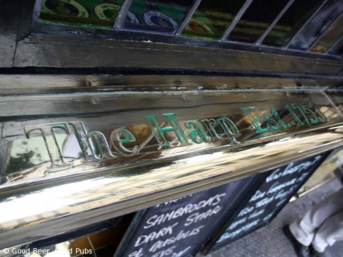 Picture of the Harp in Covent Garden - polished brass at the front