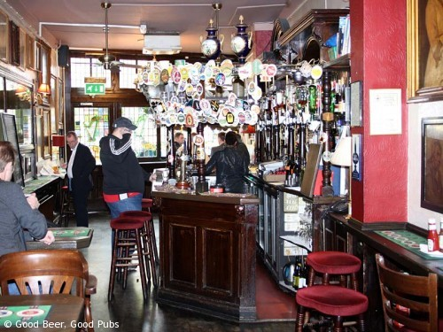 Picture of the Harp in Covent Garden - looking towards the front of the pub
