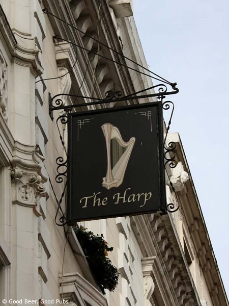 Picture of the Harp in Covent Garden - the pub sign
