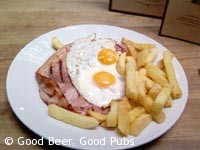 Tasty gammon at the Hoop and Grapes, Aldgate
