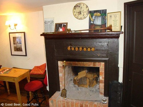 Inside the Hyde Tavern, Winchester - the fireplace