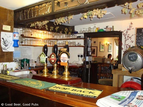 Photo of the bar of the Hyde Tavern , Winchester
