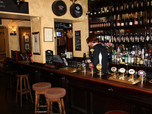 The downstairs bar at The Iron Duke