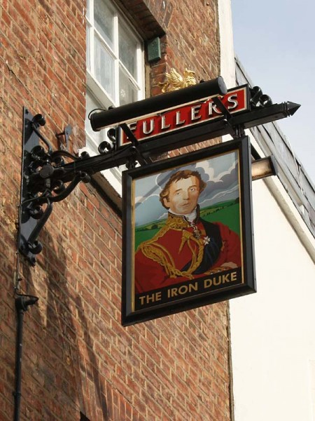 Pub sign from the Iron Duke, Mayfair