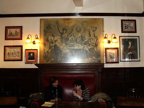 The upstairs seating area at the Lamb & Flag, Covent Garden - Looking towards the rear of the pub