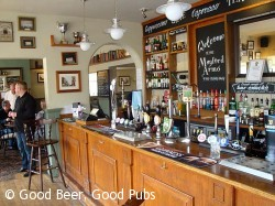 The bar at the Mayford Arms, Mayford, Woking