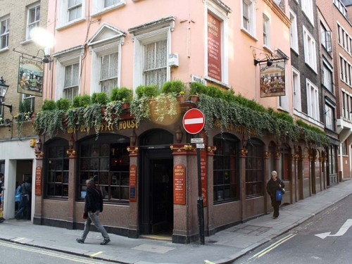 Exterior of the Old Coffee House, Soho, London