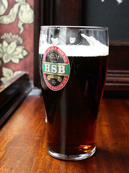 The perfect pint of Gales HSB at the Round House, Covent Garden