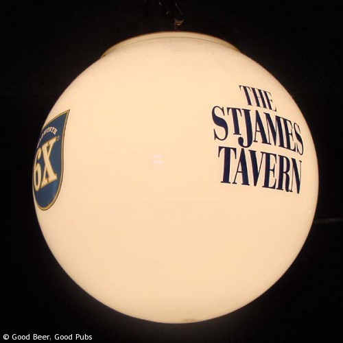 St James Tavern, Winchester - The pub's own lamps