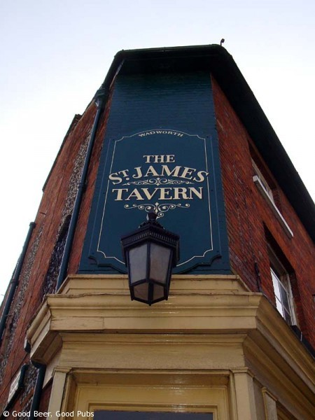 St James Tavern, Winchester - Above the front entrance
