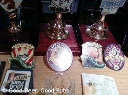 Varsity Bar, Guildford - hand pumps