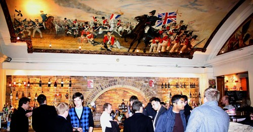 The painted ceilings inside the Wellington at Waterloo