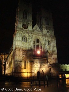Picture of Westminster Abbey at night