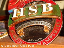 Gales HSB pump clip at the Wykeham Arms, Winchester