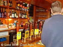 On the bar at the Wyndham Arms, Salisbury